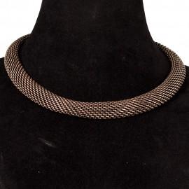 Flat silver chain