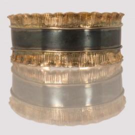 92.5 silver cuff in two tone